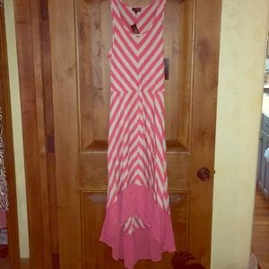 NWT Pink & Heather Stripped Tank Dress by Limited